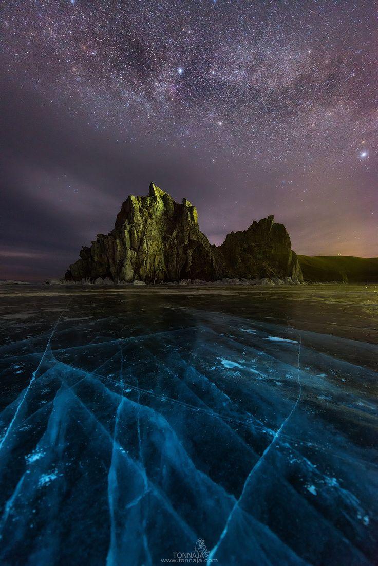 The Milky Way over Shamanka Rock - null