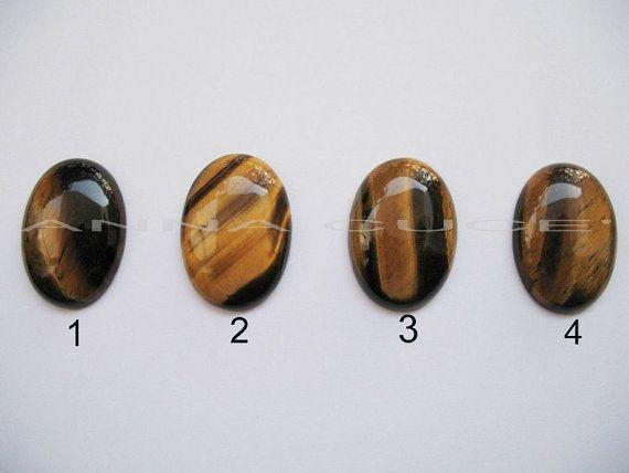 Cabochon occhio di tigre pietra preziosa ovale misura di AnnaCuce