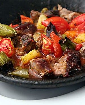 Turkish food - Lamb en cocotte