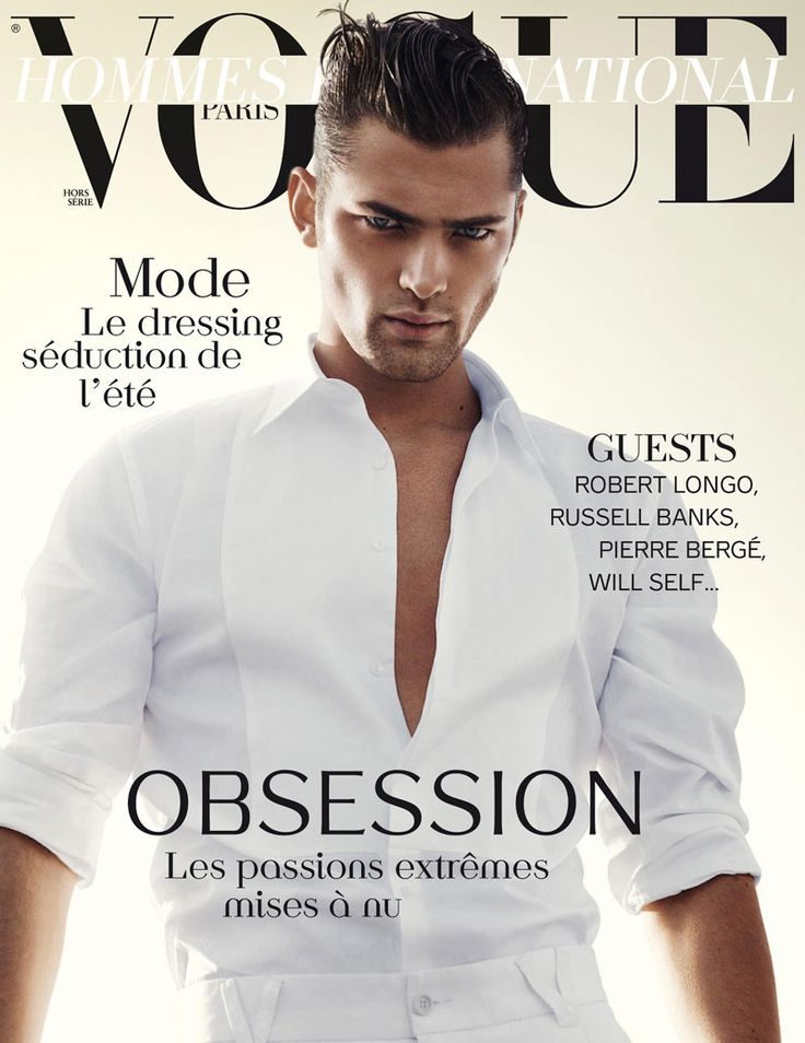 Sean O'Pry by David Sims for Vogue Hommes International Spring 2012