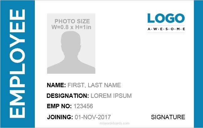 100 Blank Id Card Badges To Customize Print Free Id Card Template Card Template Blank Id Cards