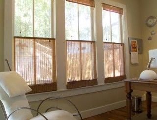 Top Down Bottom Up Natural Shades - contemporary - roman blinds - austin - FUA Window Coverings
