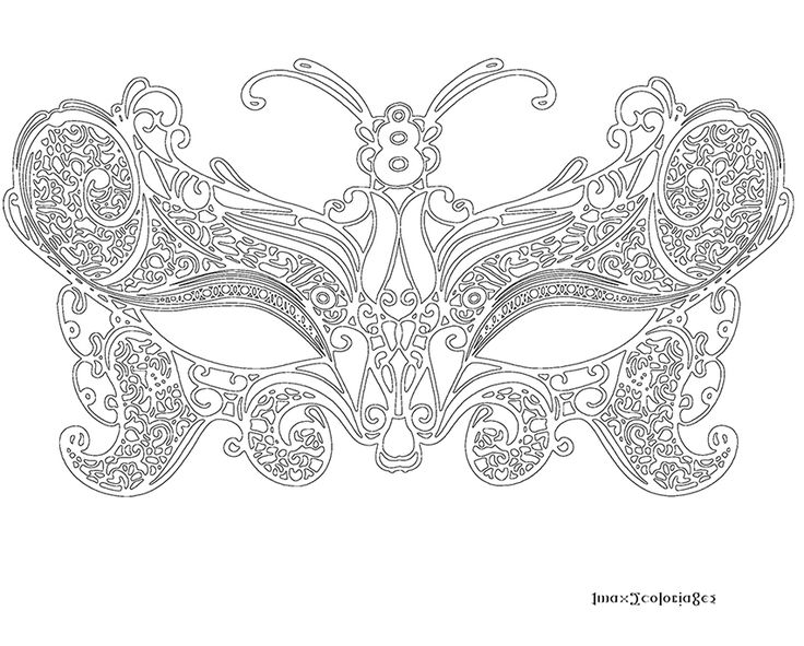 Coloriage masque v nitien grande image coloriages pinterest stress anti stress and search - Coloriage masque ...