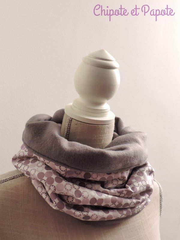 Snood gris - Chipote et Papote