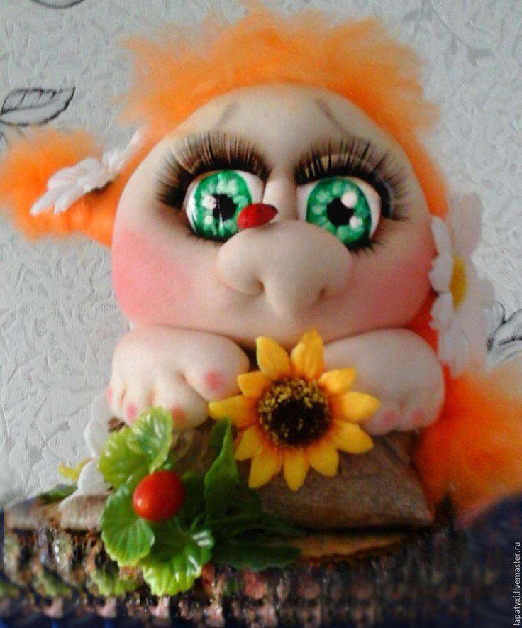Купить Попик -фея!!! - рыжий, кукла, сувенир, Фея цветов, ромашки, подарок, малыш