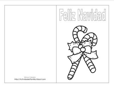 Tarjetas de navidad para imprimir y colorear #Navidad #Imprimir #Xmas