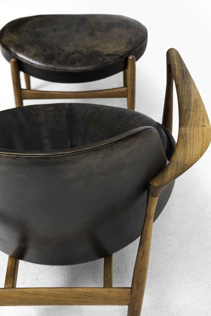 ib kofodlarsen easy chair with stool model elizabeth at studio schalling