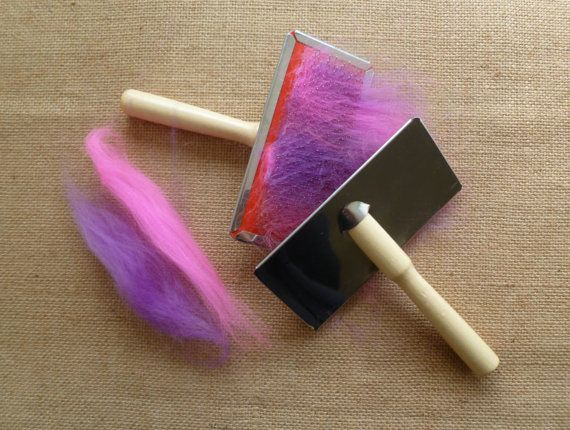 Needle Felting Carding Combs Flick Carder Wet