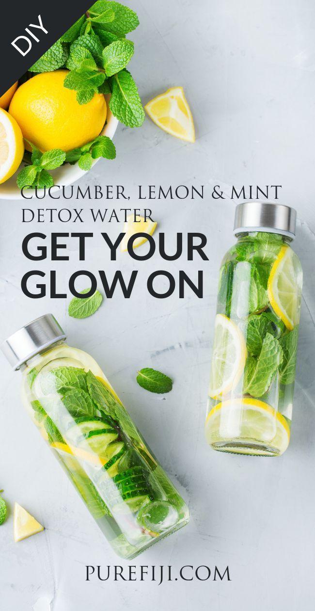 Detox Water Drink Your Way To Clear Glowing Skin Mint Detox Water Detox Water Natural Detoxifiers