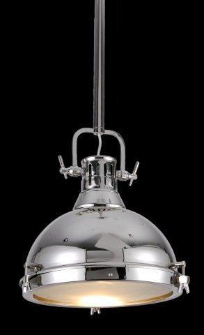 Produtos Infinity Modern Lamp - Grupo Metais Bianca Medidas: Ø38*30CM Material: METAL CROMADO Descrição PENDENTE ESTILO MARÍTIMO EM METAL CROMADO FECHADO COM VIDRO DIFUSOR. LÂMPADA E27