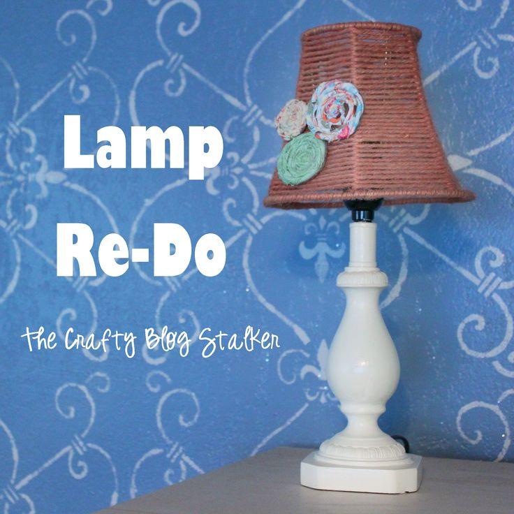 Yard Sale Lamp Redo