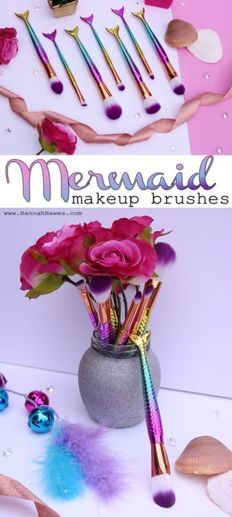 Mermaid makeup brushes. International giveaway / competition. Every girl wants to be a mermaid! www.HannahHawes.com