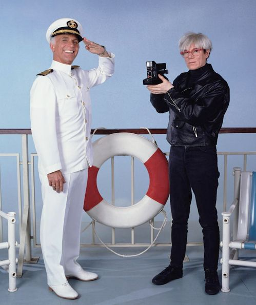 """Andy Warhol and Gavin MacLeod  from the 70s TV show """"LoveBoat""""  ...surreal!!!!!!!"""