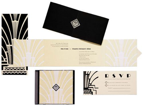 Vintage Art Deco Invitations