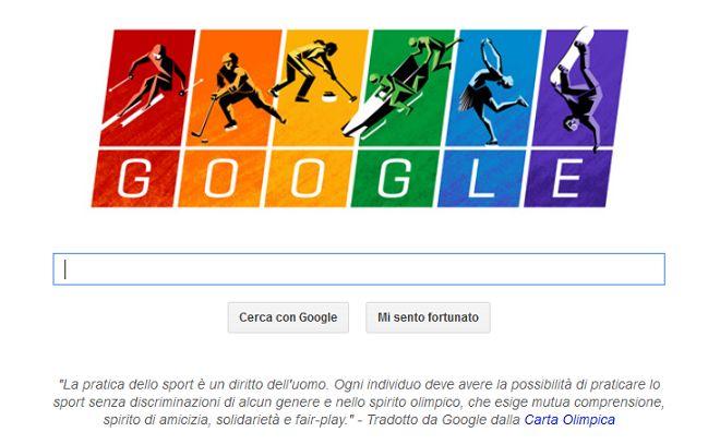 Olimpiadi invernali 2014. Google e il doodle che non nomina Sochi...