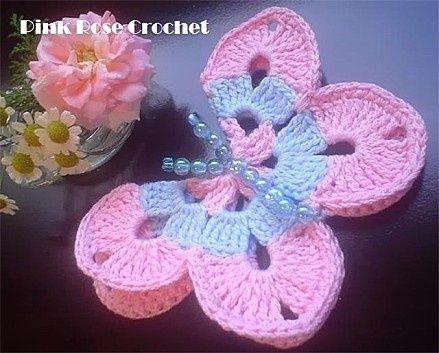 Free Crochet Patterns to Print   Free Crochet Butterfly Patterns