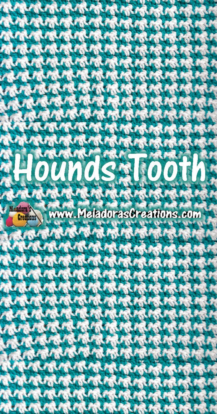 Hounds tooth stitch