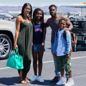 Beautiful photo of Kevin Hart and his family..