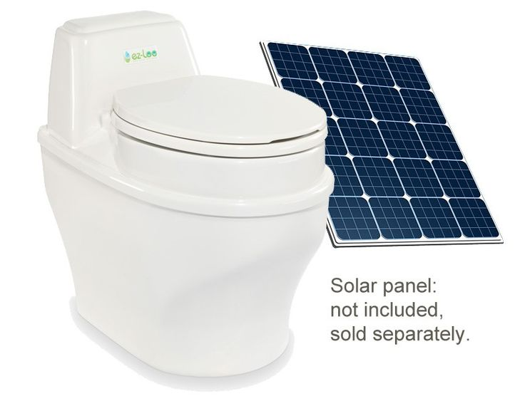 ez-Loo SolarWaterless Toilets, Cabin Ideas, Solar Waterless, House Ideas, 12V, Tiny Living, Tiny Houses, Solar Panels, Ez Loo Solar