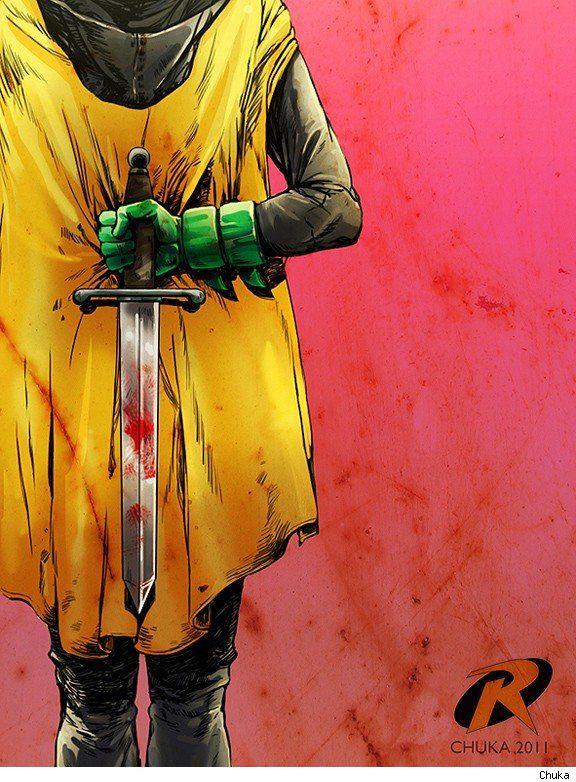 Robin. Damien, little bastard needs a crowbar....