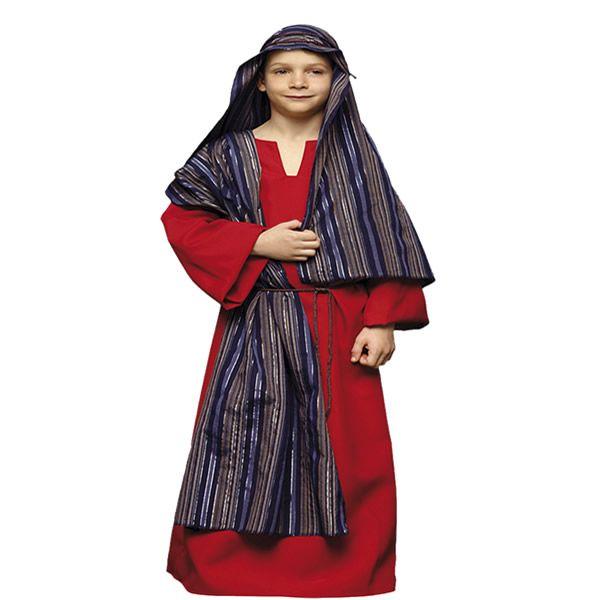 DisfracesMimo, disfraz de hebreo rojo infantil varias tallas. De estética Beduína, te permitrá sentirte como un Jeque Árabe en Fiestas Temáticas y Carnaval, un Pastor en Navidad.Este disfraz es ideal para tus fiestas temáticas de disfraces de navidad y cabalgatas infantiles