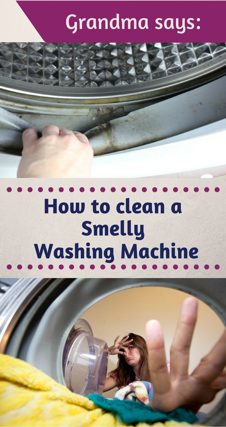 Grandma Says: How To Clean A Smelly Washing Machine