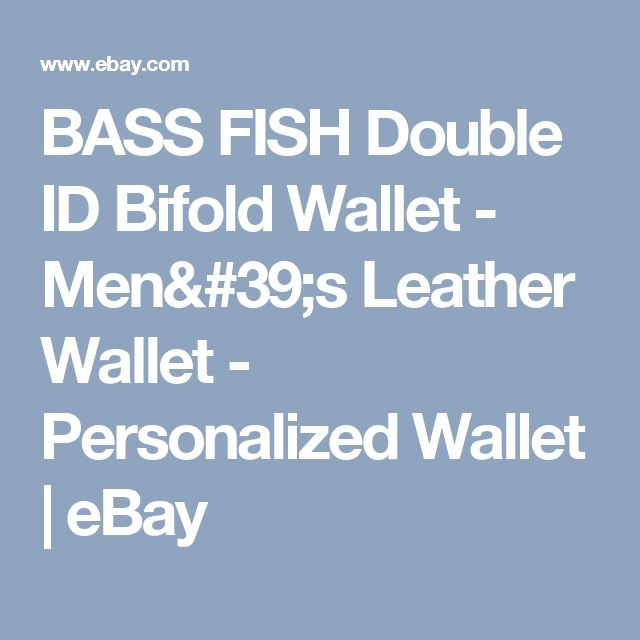 BASS FISH Double ID Bifold Wallet - Men's Leather Wallet - Personalized Wallet  | eBay