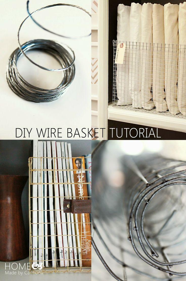 36 best DIY Wire Baskets images on Pinterest | Wire baskets ...