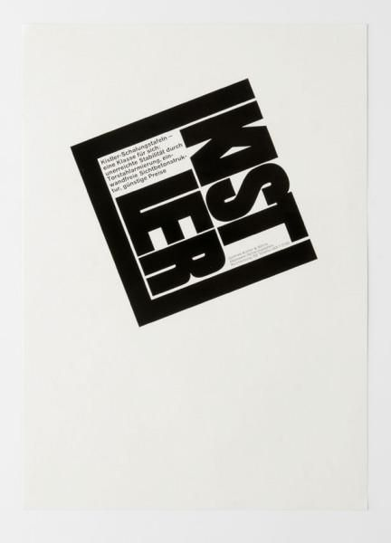 Werbeinserat für Baugewerbe Kistler (Originaltitel) 1959-1960. Siegfried Odermatt