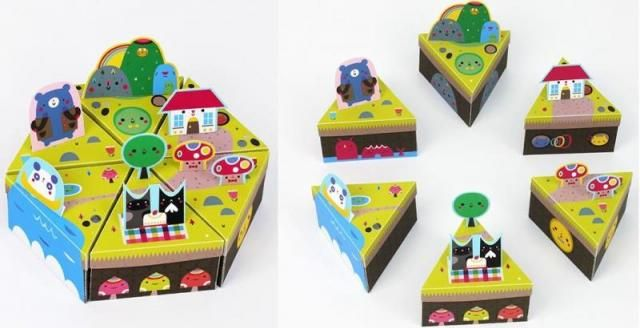 """The Crowded Teeth Island Paper Toy Diorama For Kids - by Michelle Romo - via Mr Printables - == -  Mr Printables says: - """"Fabulous illustrator Michelle Romo is the creator of Crowded Teeth (you can read more about it on our blog here too) and she's created this amazing printable template especially for our Mr. Printables readers."""