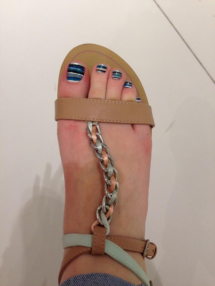 #nails #blue #summer