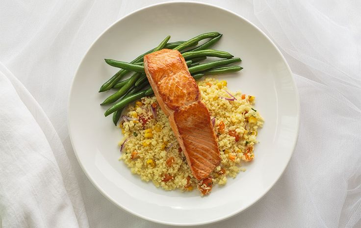 Salmon and Heirloom Tomato Couscous with Green Beans A Week's Worth of Healthy, Easy Dinners: Done! - SELF