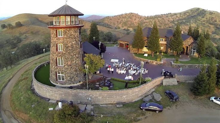 """Weddings at The """"Clovis Castle"""" in California -  Aerial View"""