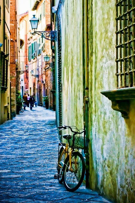 Italy photography - Narciso's World - Tuscany, Italy - Fine art travel photography - olive, blue, terracotta
