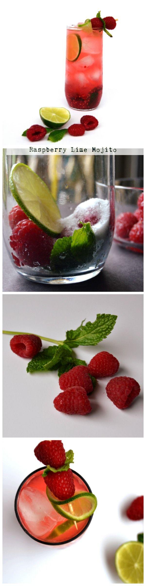 Raspberry lime mojito in 5 minutes.  #raspberry #mojito
