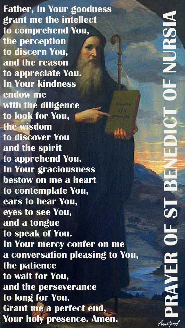 Our Morning Offering – 10 February  PRAYER OF ST BENEDICT OF NURSIA  Father, in Your goodness grant me the intellect to comprehend You, the perception to discern You,..#mypic