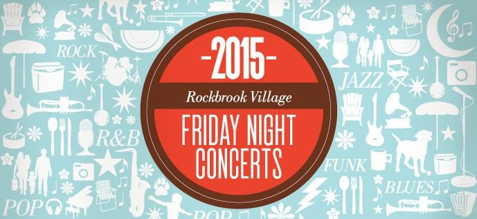 Rockbrook Village® Friday Concerts June 05, 2015 to August 28, 2015 (Every Friday) Address: 108th & W Center Rd, Omaha, NE 68144 Venue: Rockbrook Village Shopping Center Times: From: 7:00 PM to 8:00 PM Admission: Free