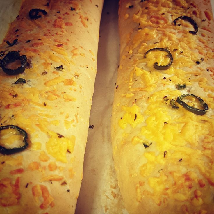 Jalapeno cheese bread. Made with fresh jalapenos and Thornloe cheese. We take our bread very seriously.