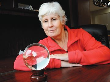 Near miss - Deborah Johnson has learned a lesson through her crystal ball — a safety lesson.