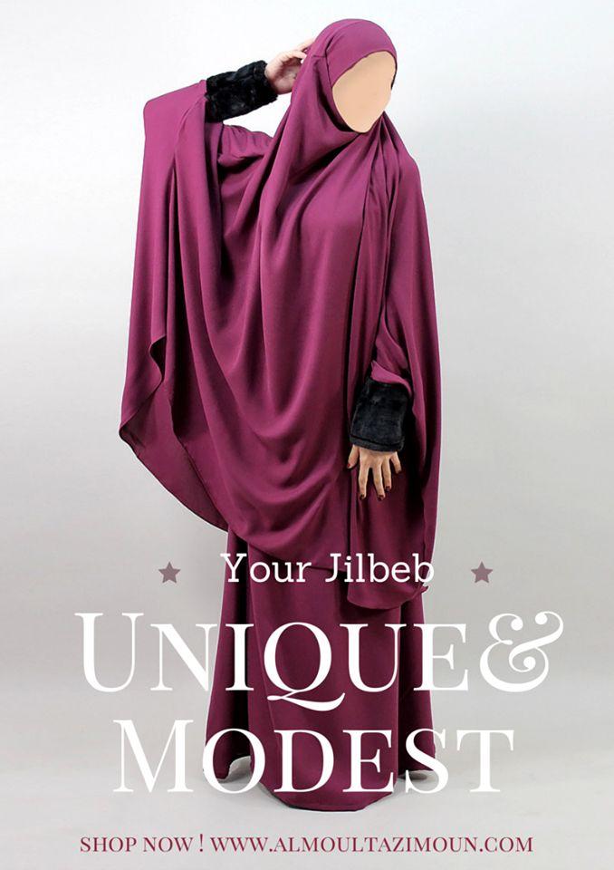 Jilbab Fourrure  - Al Moultazimoun / #Overhead #khimar #jilbab #fur #cardigan…