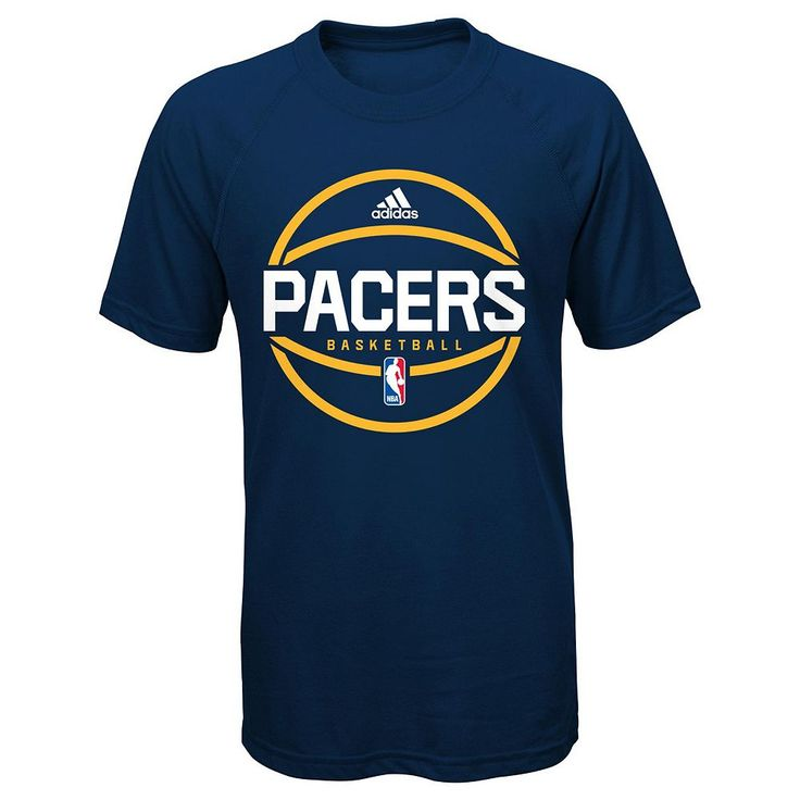 Boys 8-20 Adidas Indiana Pacers climalite Practice Tee, Size: Medium, Blue