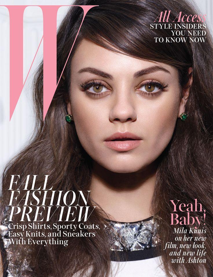 Mila Kunis: That '60s Girl - Mila Kunis W Cover August 2014