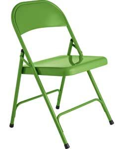 Habitat Macadam Green Metal Folding Chair.