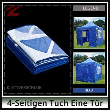Pavillon Seitenteile 3 x 3, aus 210D OXFORD, für Gartenpavillon, Partypavillon, wasserdicht, 3x3-4KL Blau