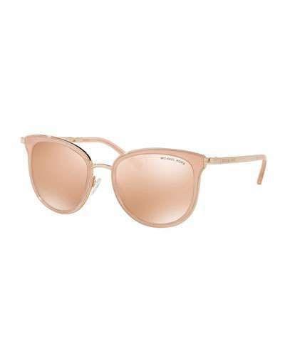 Michael Kors Mirrored Square Sunglasses, Rose Gold