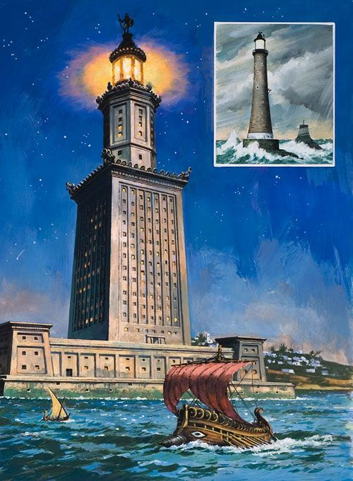 Pharos of ALexandria One of the seven wonders of the world.