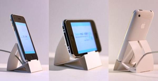2 Easy Diy Paper Iphone Ipod Stand Cardboard Dock For