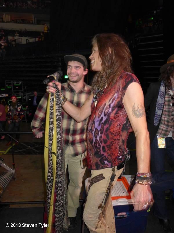 Steven Tyler with son Taj Tallarico