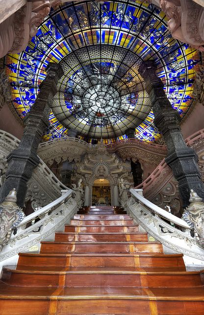 Erawan Museum - Samut Prakan, Thailand...if i could pick any staircase to get married on...