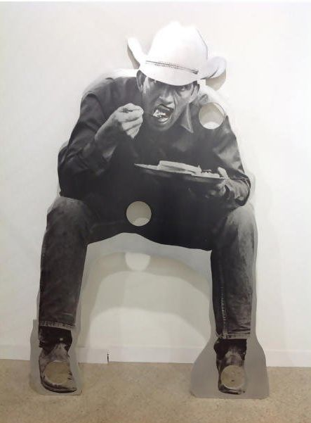 Cady Noland - Cowboy with Holes, Eating